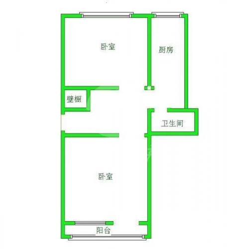 十二中学区房二室一厅67万南北通透2室1厅机场路南楼满二47平楼层好